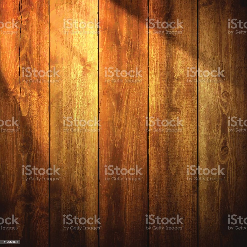 Light on wooden Background vector art illustration