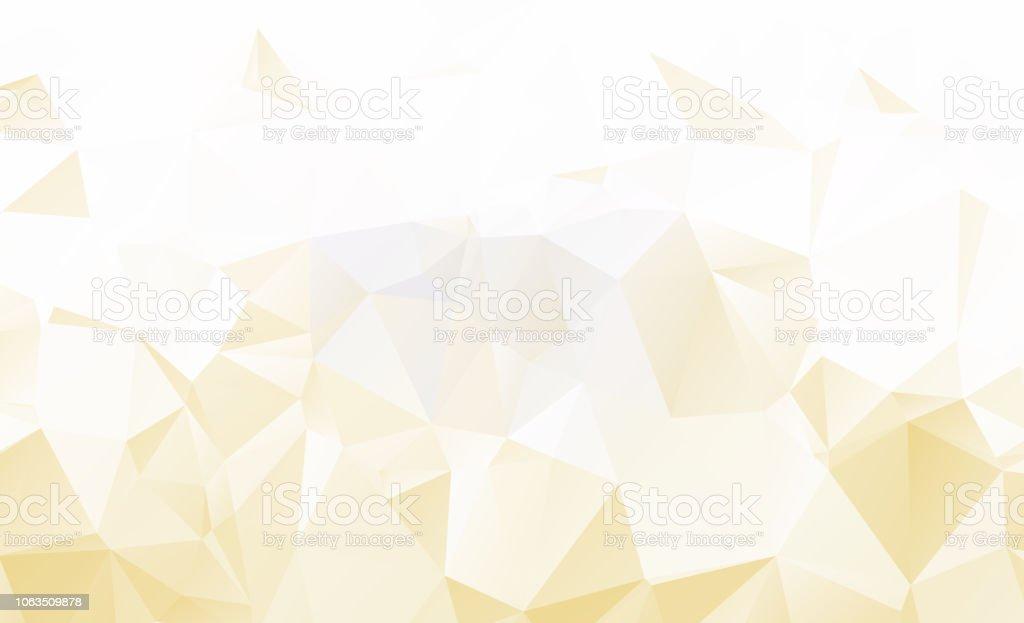 Hell Orange Vektor Lowpolykristallhintergrund