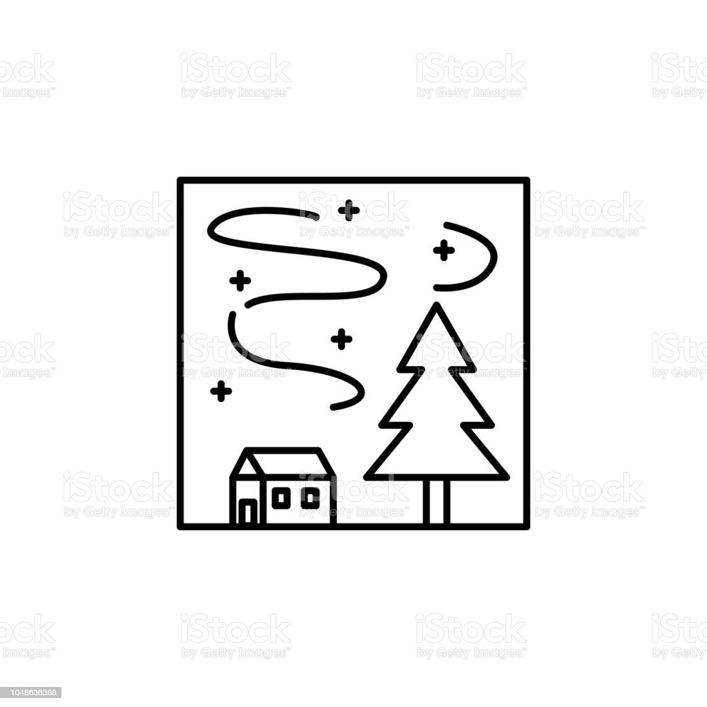 Light Outline Icon Element Of Landscape Outline Icon For