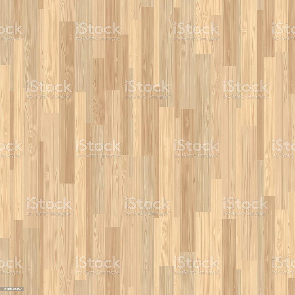 Seamless Light Wood Floor Parquet Wooden Stripe Mosaic Tile Vector Art Illustration