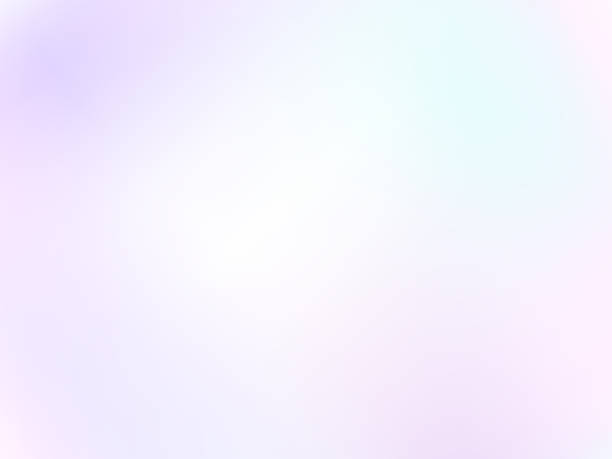 ilustrações de stock, clip art, desenhos animados e ícones de light pastel background. diffused white, purple, pink, turquoise hues. gentle tones. soft blurred gradient. abstract vector delicate, dreamy, airy image. eps 10 illustration - focagem no primeiro plano