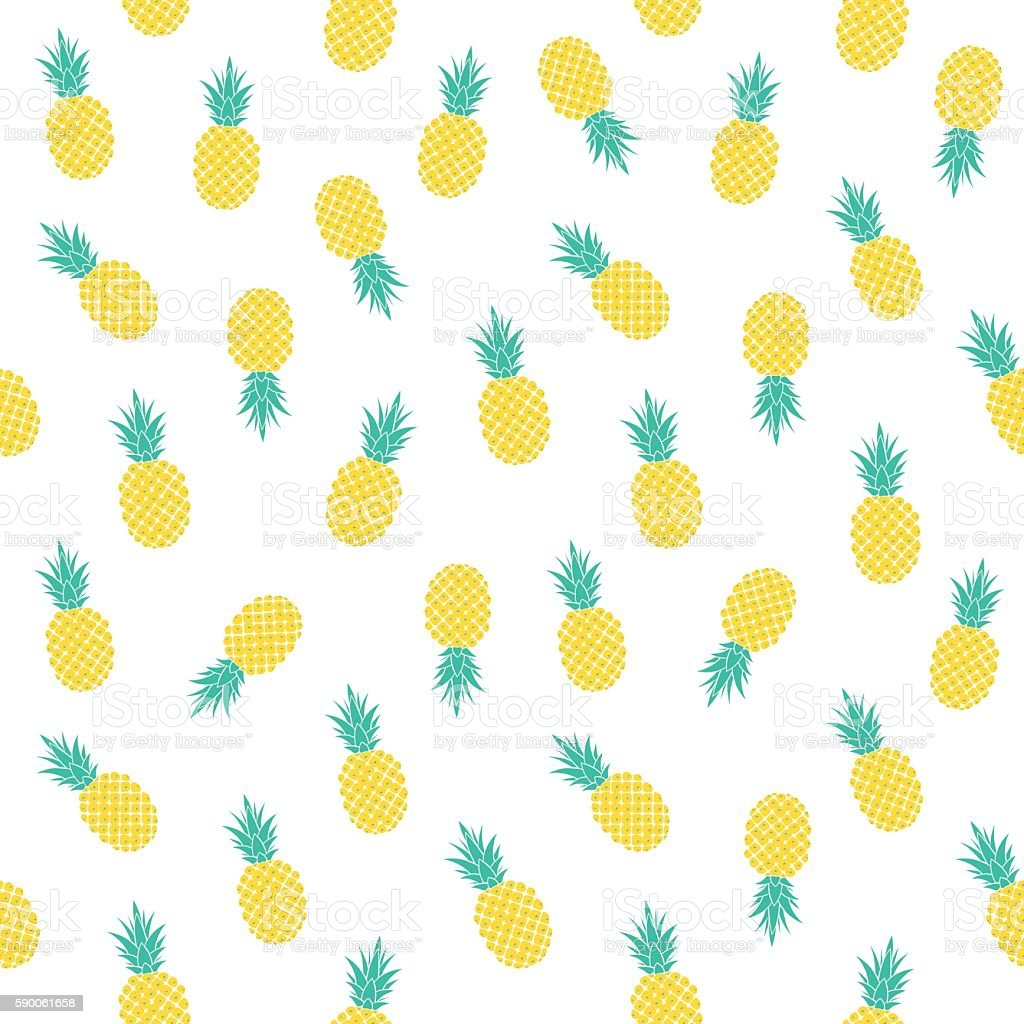 light pattern with pineapples – artystyczna grafika wektorowa