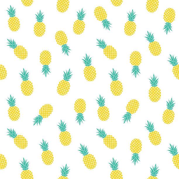 light pattern with pineapples – artystyczna grafika wektorowa