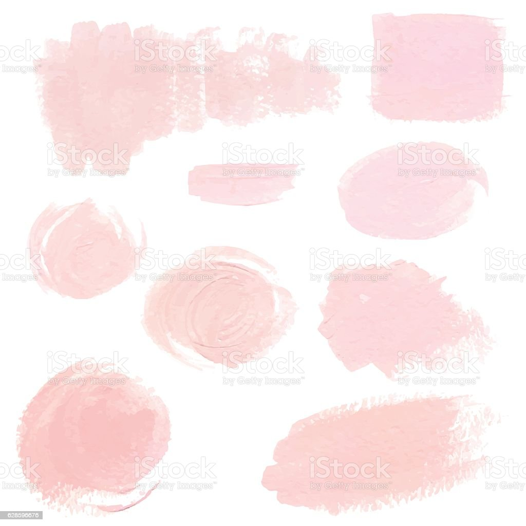 Light pink pastel acrylic brush strokes vector art illustration