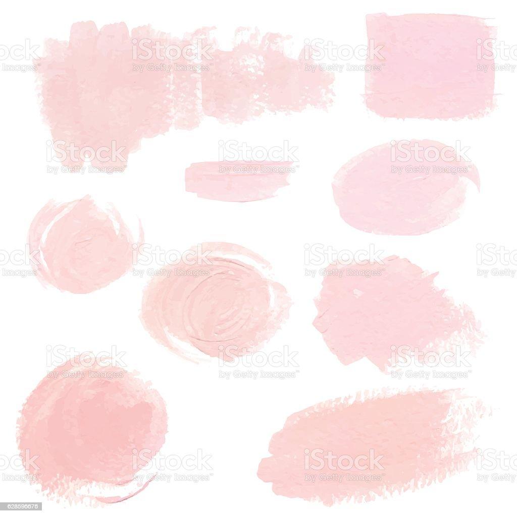 Light pink pastel acrylic brush strokes vector art illustration