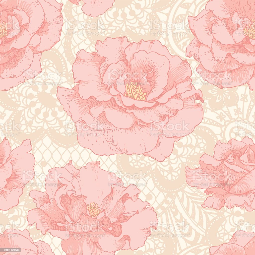 A Light Pink Rose Lace Pattern Stock Vector Art & More ...