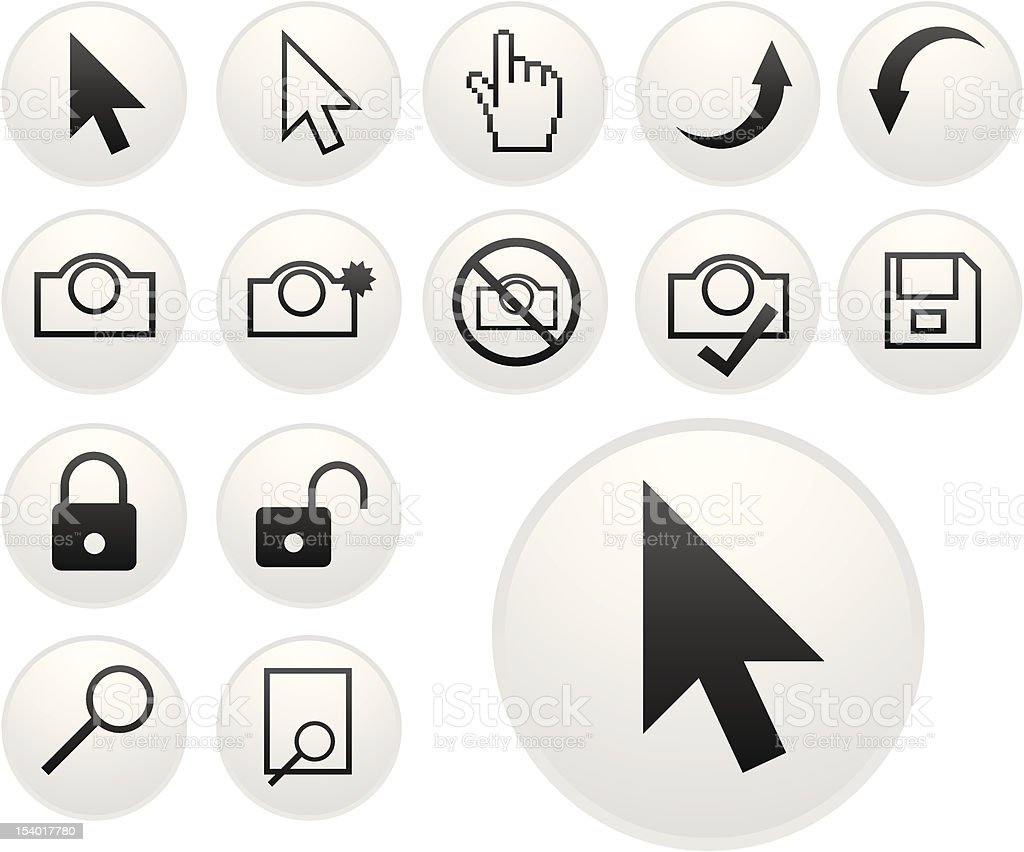 light pointer icons royalty-free stock vector art