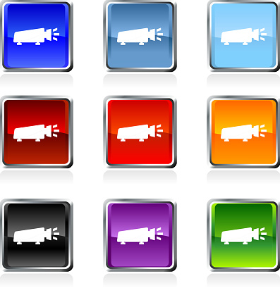 light projector royalty free vector art in nine colors