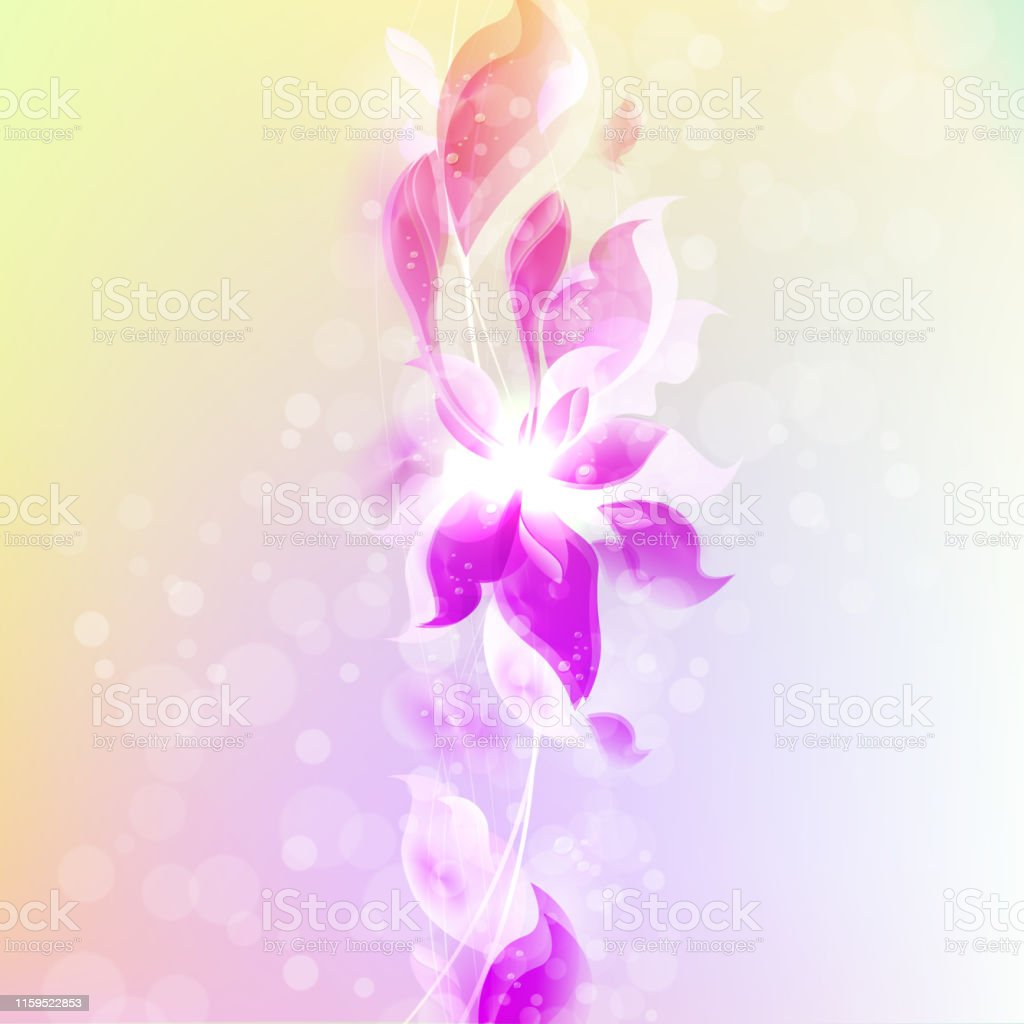 Light Purple With Yellow Color Background With Abstract