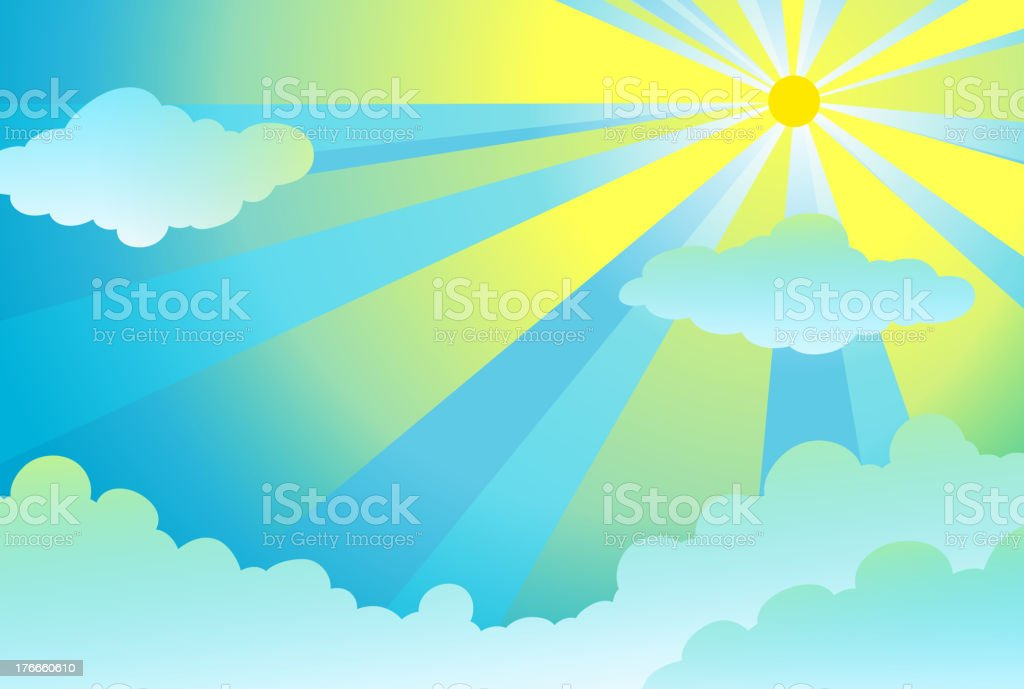 light rays in the sky royalty-free light rays in the sky stock vector art & more images of blue