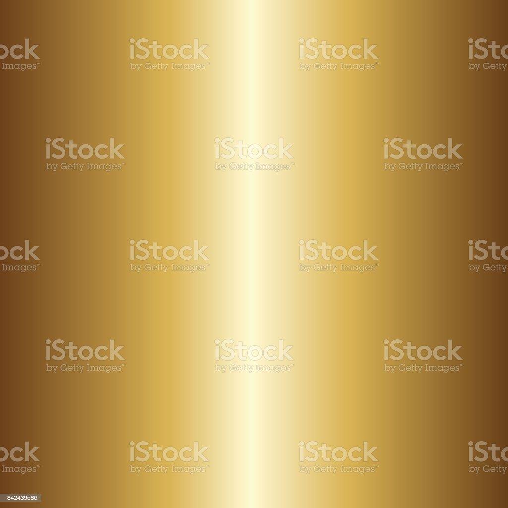 Light realistic, shiny, metallic empty golden gradient template. Vector illustration. vector art illustration