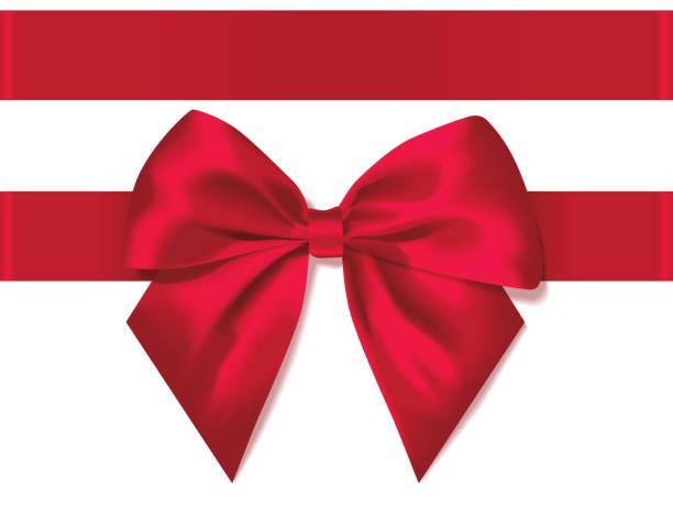 illustrations, cliparts, dessins animés et icônes de lumière rouge bow soie décorée de ruban pour cadeau - ellen page