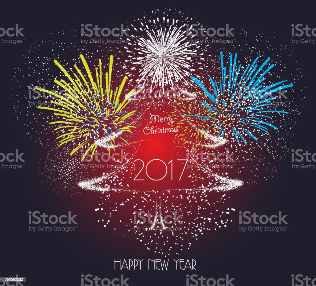 Light silver happy new year and Christmas background royalty-free light silver happy new year and christmas background stock vector art & more images of 2017