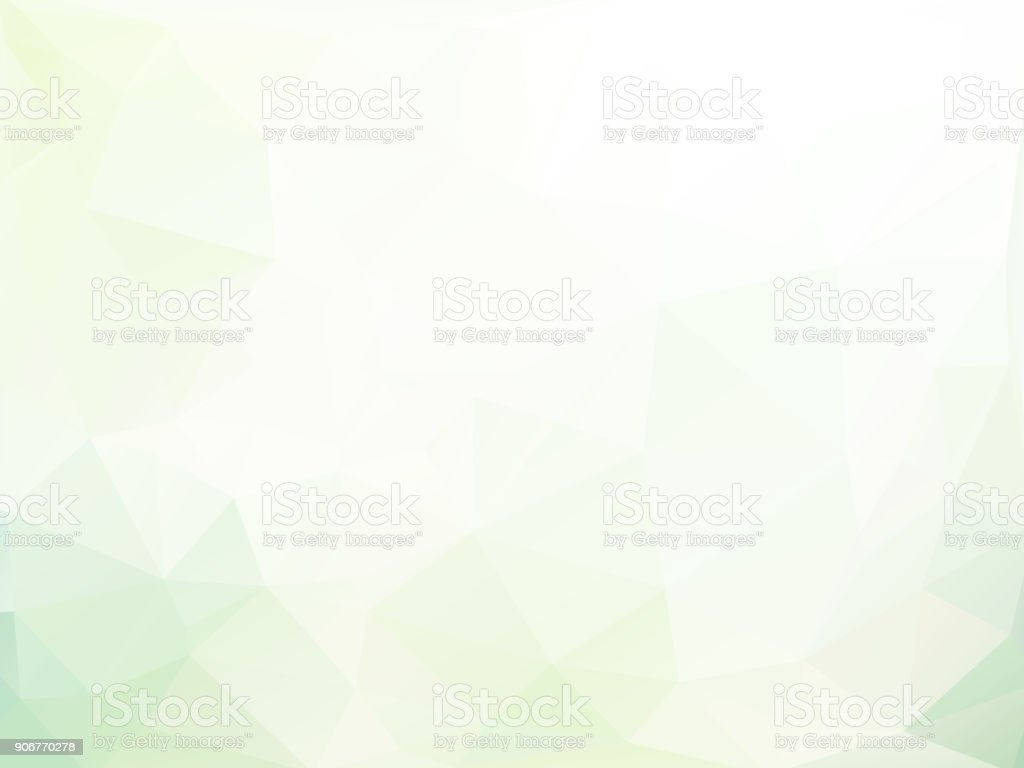 light soft green triangular geometric background vector art illustration