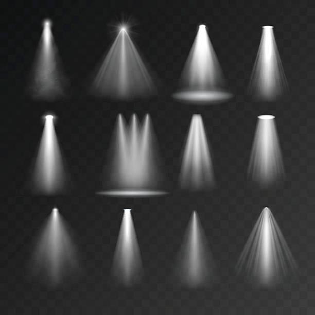 light sources set - rock formations stock illustrations