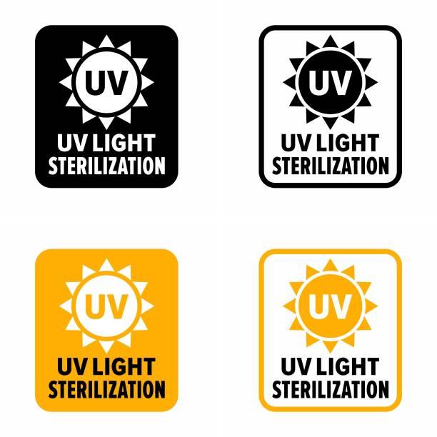 UV radiation icon, ultraviolet with sun logo symbol. vector illustration.  Clipart   k59543413   Fotosearch