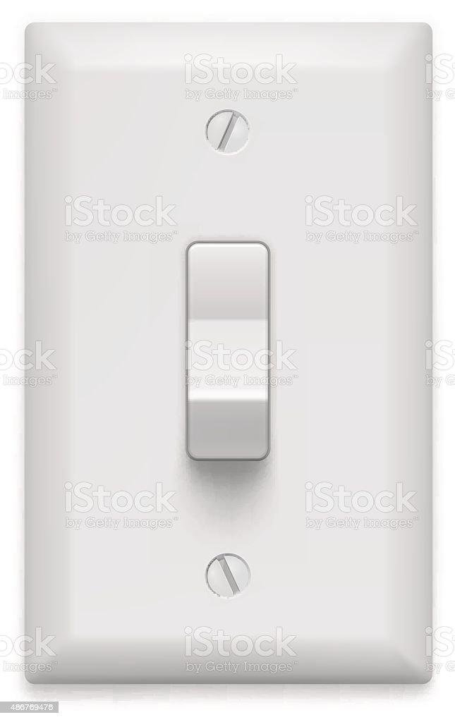 Light switch on white background. Vector illustration vector art illustration