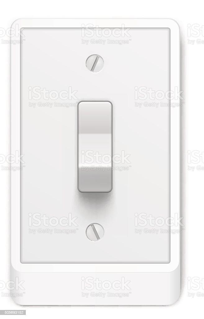 Lichtschalter Auf Weißem Hintergrund Vektorillustration Stock Vektor ...