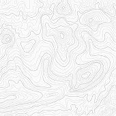 Light topographic topo contour map background, stock vector illustration