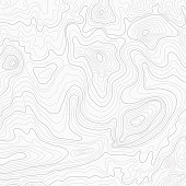 Light topographic topo contour map background