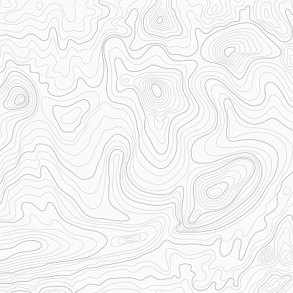 Light Topographic Topo Contour Map Background Stock Illustration - Download Image Now