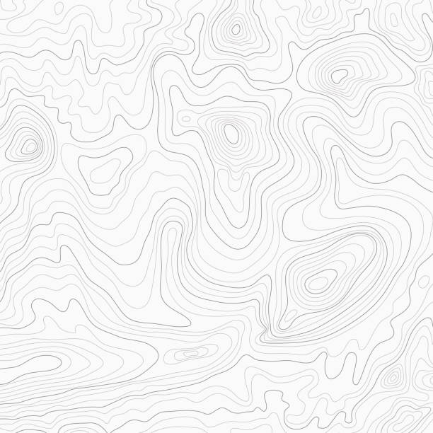 light topographic topo contour map background - lineart stock illustrations