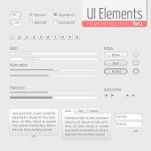 Light UI Elements Part 1: Sliders, Progress bar, Buttons, Authorization form, Volume control etc.
