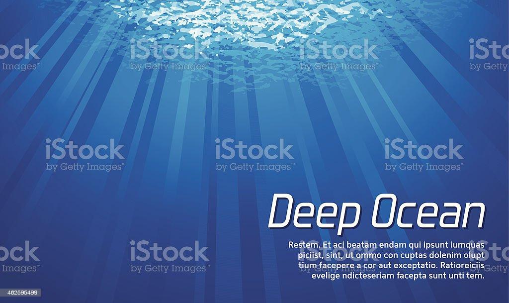 Light Under the Sea vector art illustration