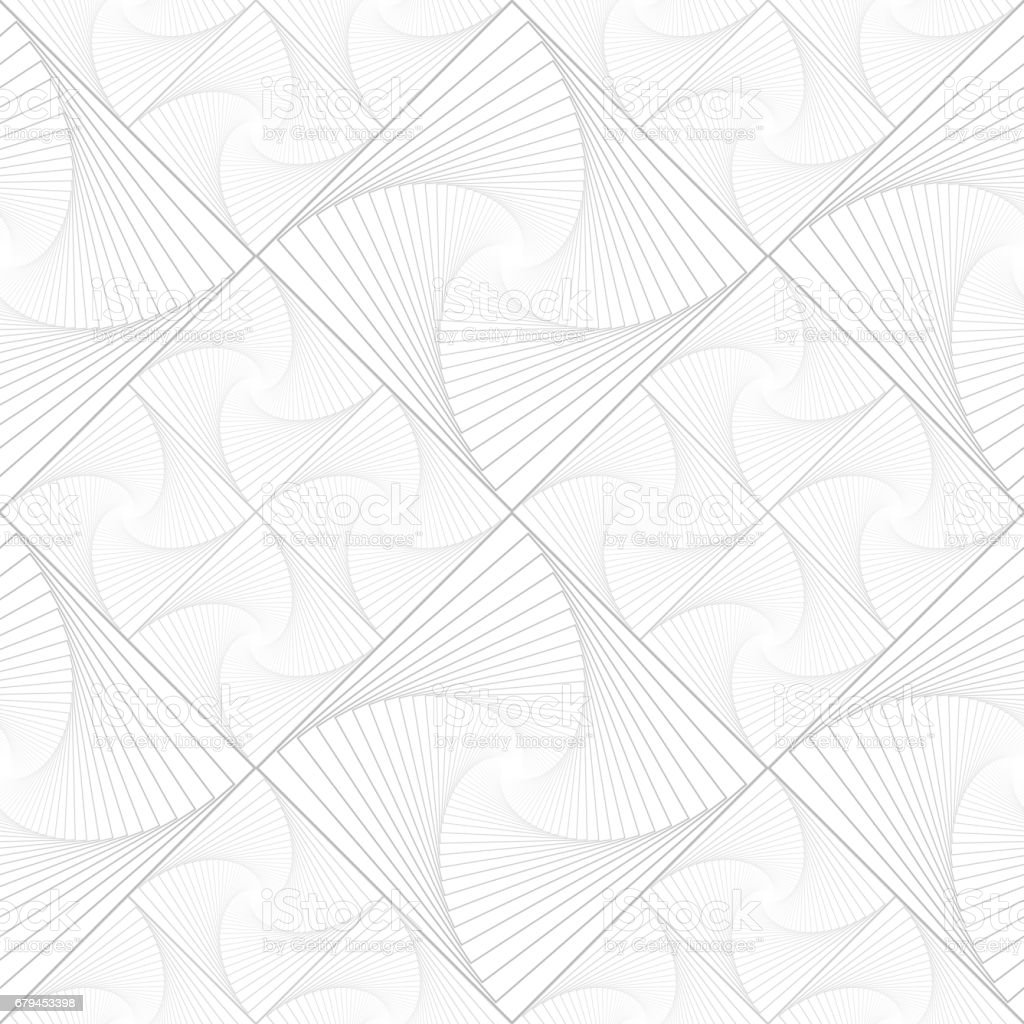 Light vector seamless monochrome pattern with grid of twirly, spiral tiles royalty-free light vector seamless monochrome pattern with grid of twirly spiral tiles stock vector art & more images of abstract
