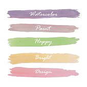 Light violet green yellow pink orange love pastel banner