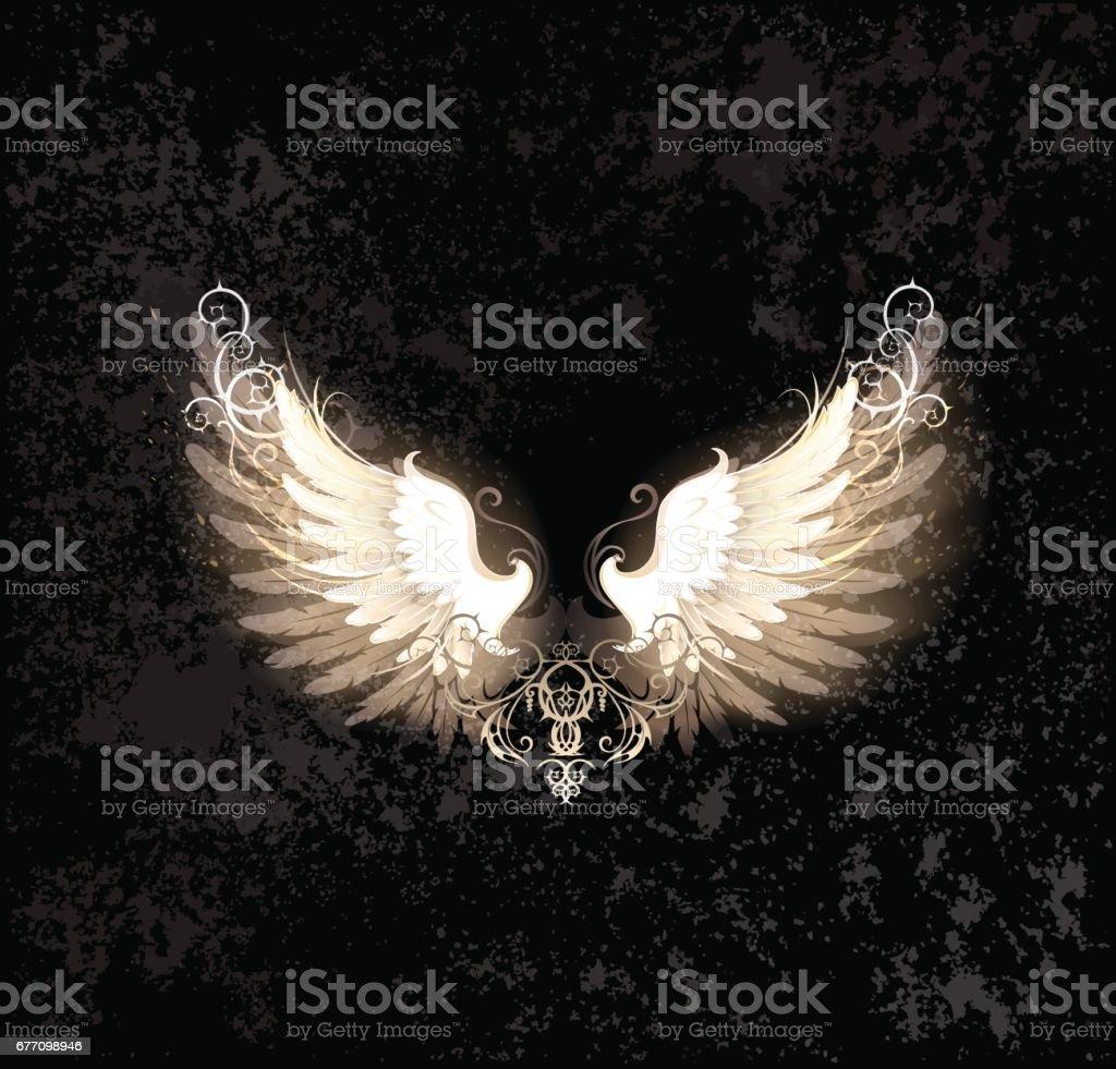 light wings vector art illustration