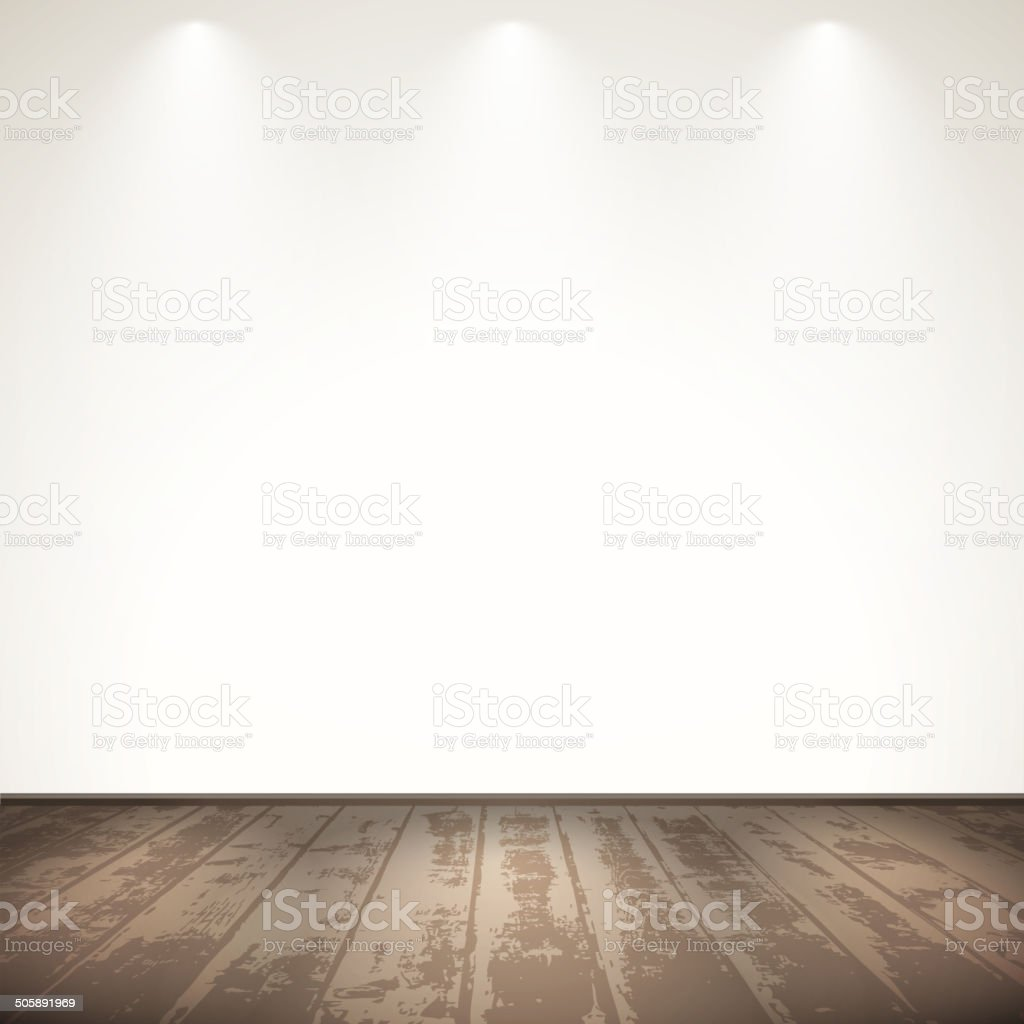 Light wooden room vector art illustration