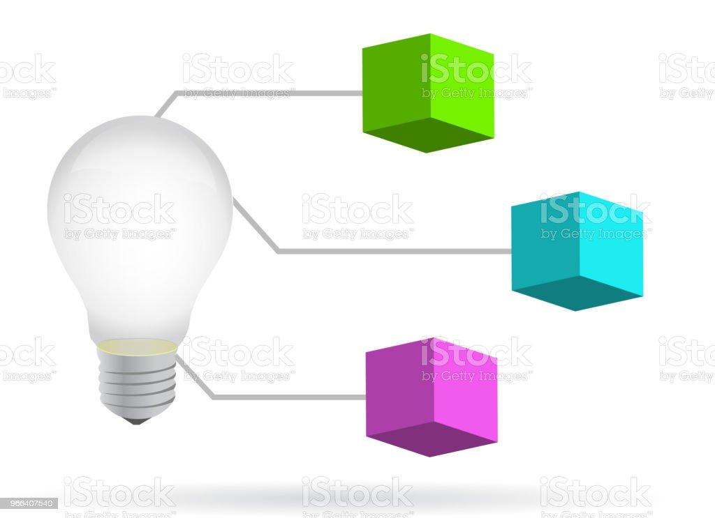 Lightbulb d diagram illustration design stock vector art more