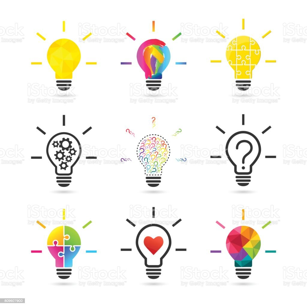 Lightbulb concepts vector art illustration