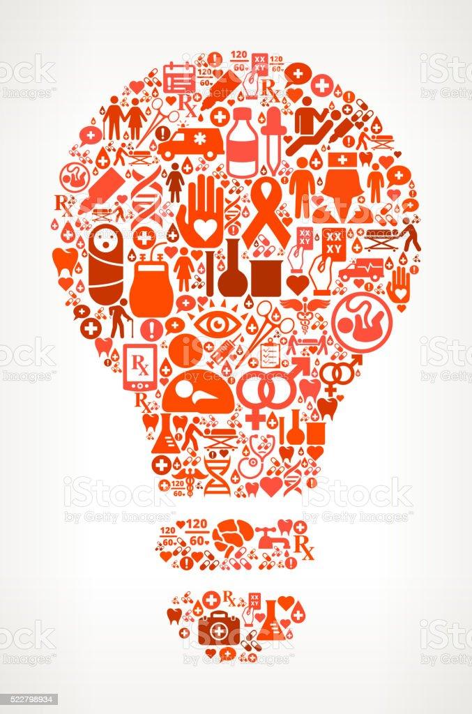 Glühbirne Medizin Und Gesundheitswesen Symbol Nahtlose Muster Stock ...