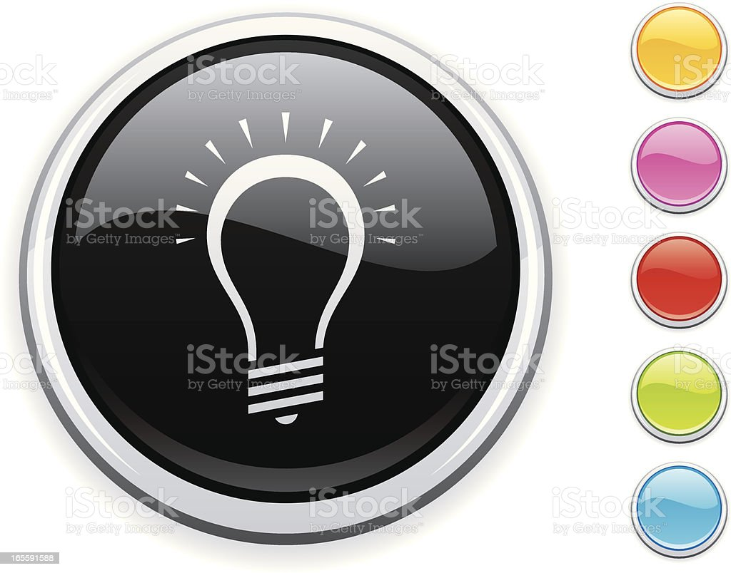Lightbulb icon royalty-free lightbulb icon stock vector art & more images of black color
