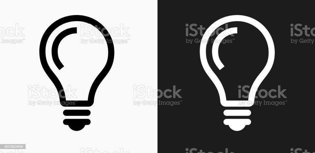Glühbirne Idee Symbol Auf Schwarzweißvektorhintergründe Stock Vektor ...