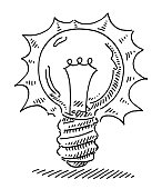Lightbulb Idea Symbol Drawing