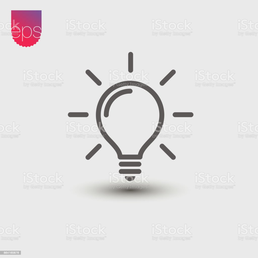 Lightbulb simple Vector Icon. Vector emblem isolated on grey background. Vector pictogram clipart royalty-free lightbulb simple vector icon vector emblem isolated on grey background vector pictogram clipart stock vector art & more images of abstract