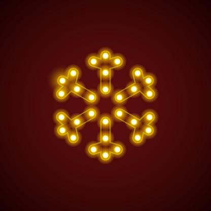 Lightbulb Snowflake Icon
