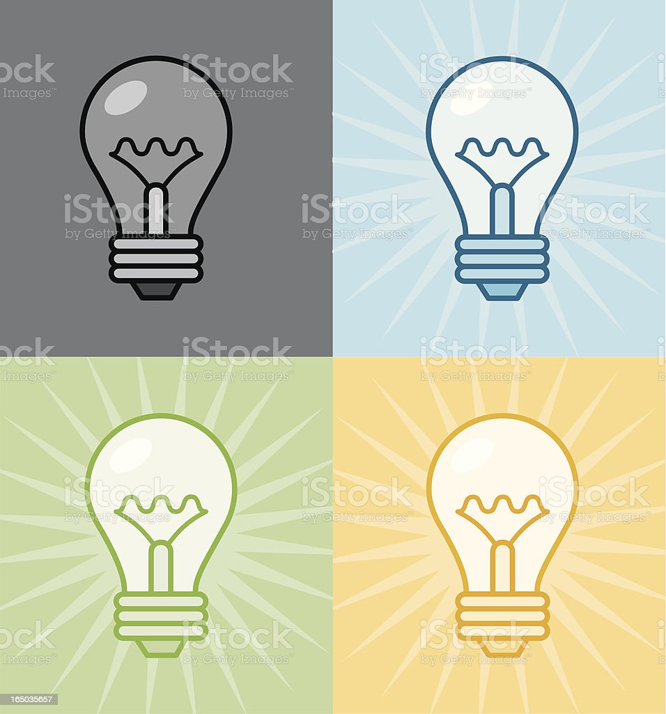 lightbulbs: on/off royalty-free lightbulbs onoff stock vector art & more images of arranging