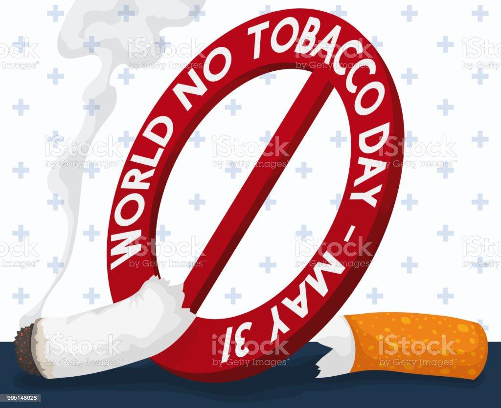 Lighted Cigarette Sliced for No Tobacco Day Signal lighted cigarette sliced for no tobacco day signal - stockowe grafiki wektorowe i więcej obrazów cenzura royalty-free