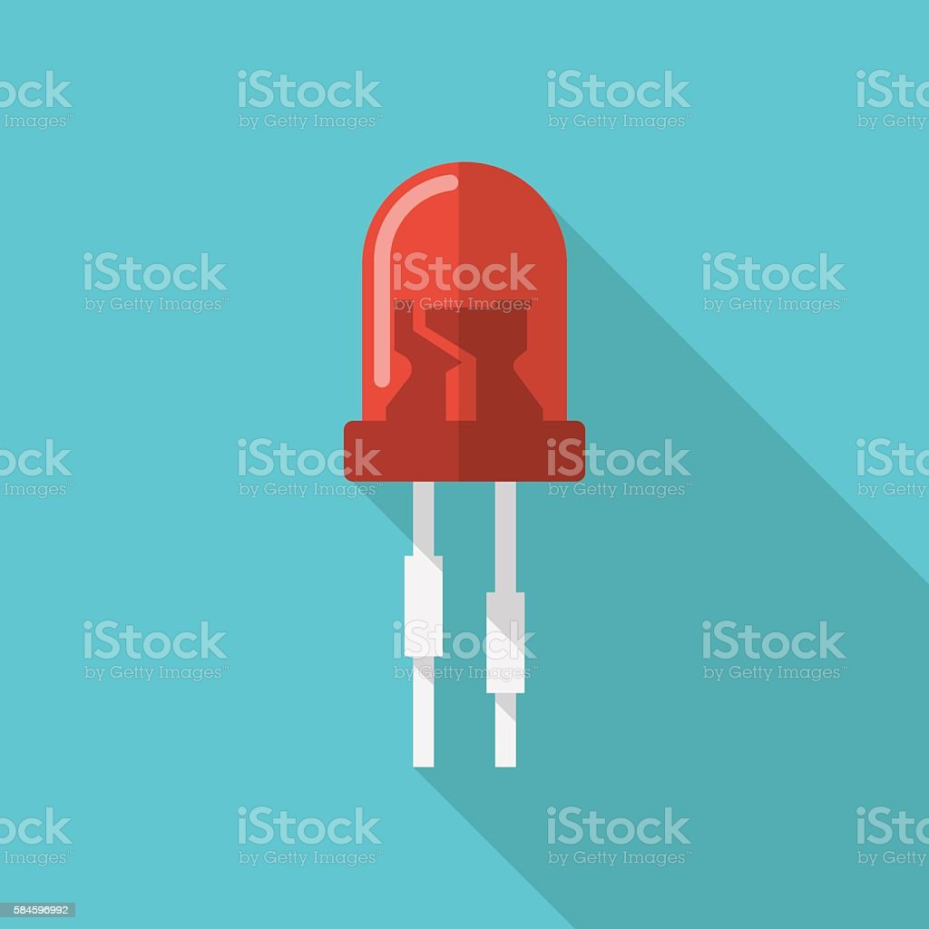 Lightemitting Diode Stock Vector Art More Images Of Business Light Emitting Electrical Circuits Royalty Free Amp
