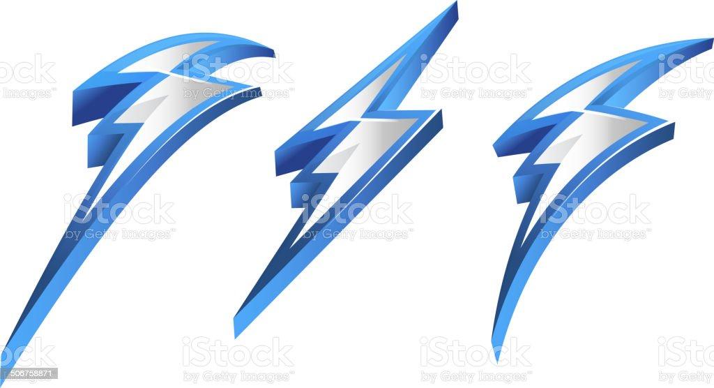 Lightening Bolt Icon vector art illustration