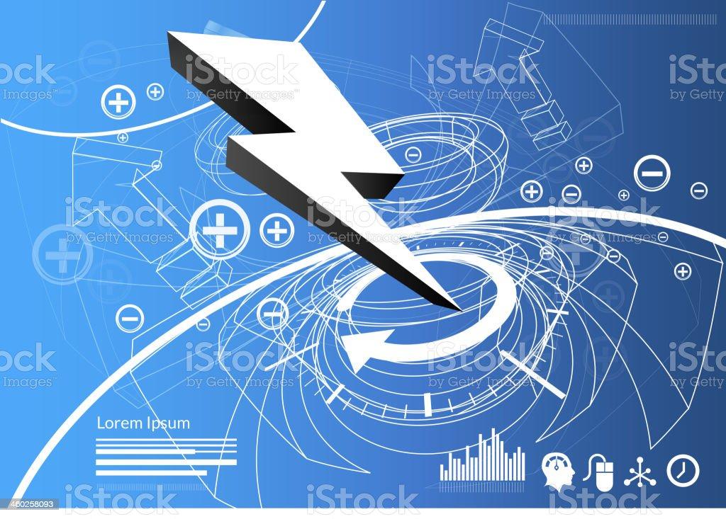Lightening Bolt Launch Concept - Illustration vector art illustration
