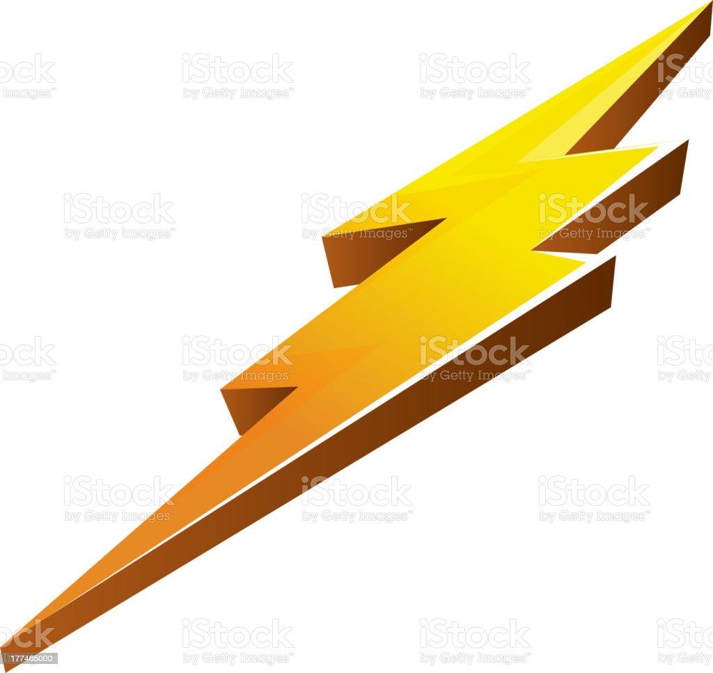 Lightening Bolt vector art illustration