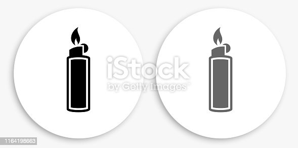 Lighter Black and White Round Icon. This 100% royalty free vector illustration is featuring a round button with a drop shadow and the main icon is depicted in black and in grey for a roll-over effect.