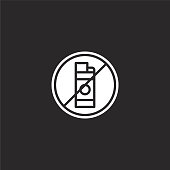 lighter icon. Filled lighter icon for website design and mobile, app development. lighter icon from filled gas station collection isolated on black background.
