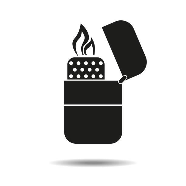 feuerzeug. symbol. isoliert auf weißem hintergrund. rauchen. für ihr design. - feuerzeuggas stock-grafiken, -clipart, -cartoons und -symbole