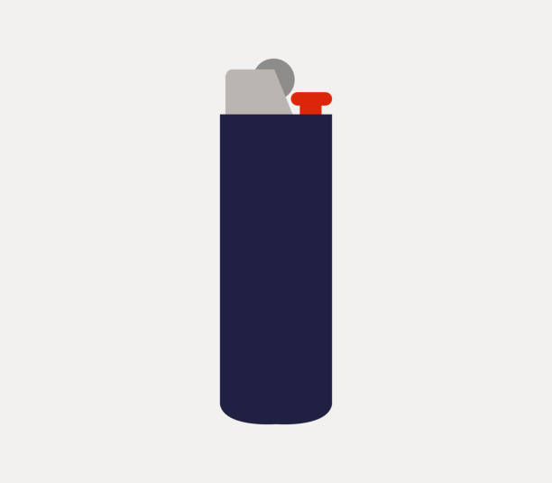 leichter-symbol - feuerzeuggas stock-grafiken, -clipart, -cartoons und -symbole